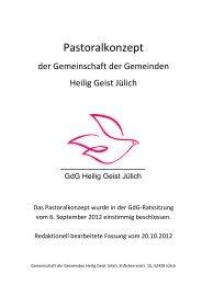 Pastoralkonzept für die - Propsteipfarrgemeinde St. Mariä ...