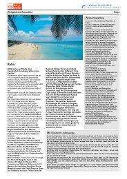 Zielgebietsinformation Kuba - ITS BILLA Reisen