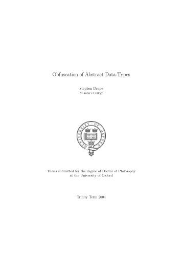 Obfuscation of Abstract Data-Types - Rowan