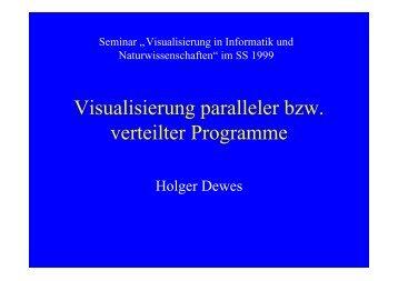 Visualisierung paralleler bzw. verteilter Programme