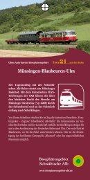 Münsingen-Blaubeuren-Ulm - Biosphärengebiet Schwäbische Alb