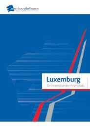 Luxemburg, ein internationaler Finanzplatz - Luxembourg For Finance