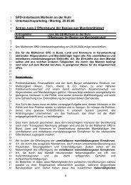 UBP 29.05.06 Offenlegung Mandatsträgerbezüge - SPD Mülheim an ...