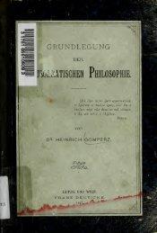 Grundlegung der neusokratischen Philosophie