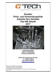 k original Kunden Preisliste Getriebe Fiat 500 Abarth ... - G-Tech