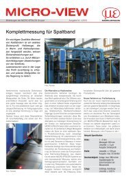 Komplettmessung für Spaltband - Micro-Epsilon Messtechnik GmbH ...