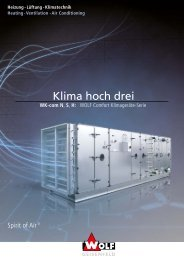 Broschüre zum Klimagerät Wolf WK.com