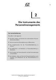 Die Instrumente des Personalmanagements - IST-Studieninstitut