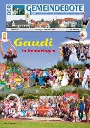 Ausgabe :Gomaringen 12.09.09.pdf - Gomaringer Verlag