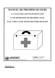 manuel de premier secours - United Nations Office on Drugs and ...