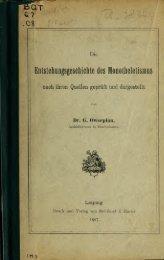 Die Entstehungsgeschichte des Monotheletismus, nach ihren ...