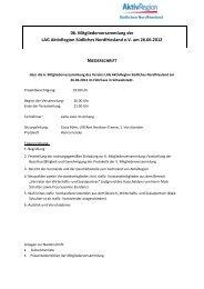 LAG AktivRegion Südliches Nordfriesland am 26.06.2012 - in der ...