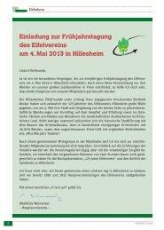 Einladung zur Frühjahrstagung des Eifelvereins am 4. Mai 2013 in ...