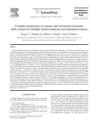 Complex trajectories of aquatic and terrestrial ... - Lehigh University