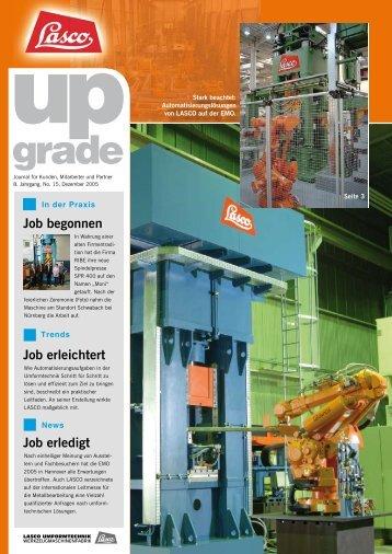 Job erledigt Job erleichtert Job begonnen - LASCO Umformtechnik ...