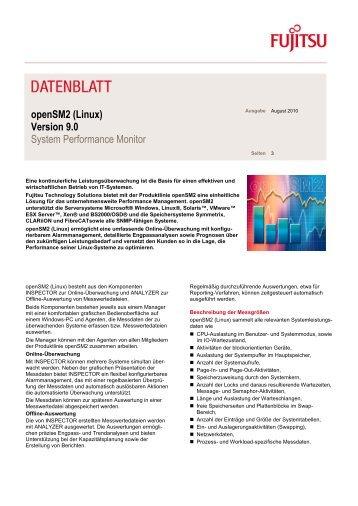 Datenblatt: openSM2 V9.0 - Linux - Fujitsu