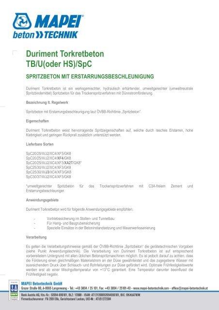 Mapei_deutsch_Duriment Torkretbeton - Betontechnik