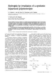 Hydrogels by irradiation of a synthetic heparinoid polyelectrolyte