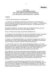 ANLAGE 1 LEITLINIE FÜR GASTGEWERBEBETRIEBE ... - Vorarlberg