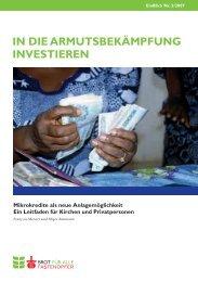 In dIe Armutsbekämpfung InvestIeren - Brot für alle