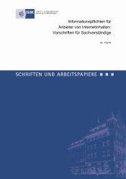 Informationspflichten im Internet - IHK Nürnberg für Mittelfranken
