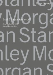Bank Morgan Stanley AG - Hong Kong Monetary Authority