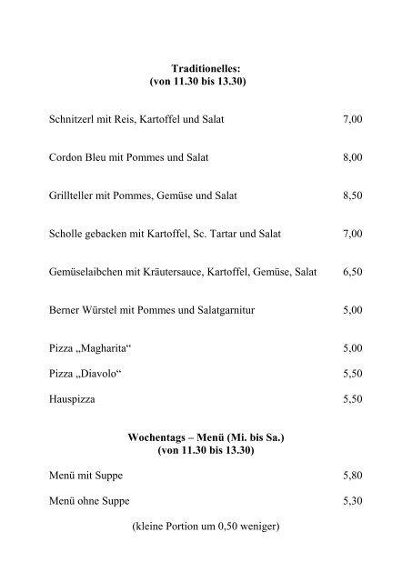 Download der Speisekarte - Gasthaus DA'WIRT