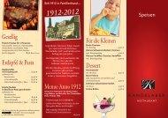 Für die Kleinen Dessert Gesellig Menue Anno 1912 Erdäpfel & Pasta