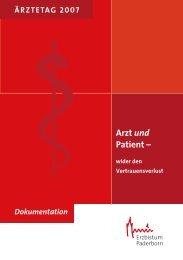 Arzt und Patient ¯ - Katholische Ärztearbeit Deutschlands eV