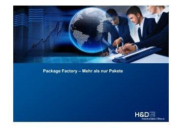 Package Factory – Mehr als nur Pakete