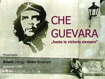 """CHE GUEVARA """"hasta la victoria siempre"""" - bzp.ch"""