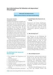 D Kurz-Informationen für Patienten mit depressiven Erkrankungen