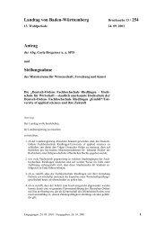 Landtag von Baden-Württemberg Antrag Stellungnahme