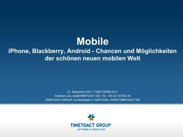 App Store - TIMETOACT GROUP