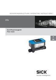 Durchflussmessgerät Flow meter - Mysick.com