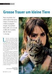 Grosse Trauer um kleine Tiere (Seiten 60-63) - Natürlich