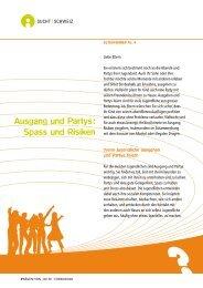 Nr. 4 Ausgang und Partys : Spass und Risiken - Sucht Schweiz