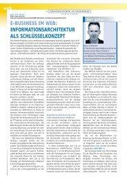 informationsarchitektur als schlüsselkonzept