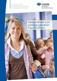 Gesundheit von pädagogischen Fachkräften - Unfallkasse Baden ...