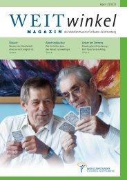 Download PDF, Ausgabe 01/2013 - Wohlfahrtswerk für Baden ...