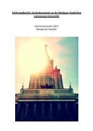 Staatliche Lomonossow Universität Moskau, Russland 2011/12