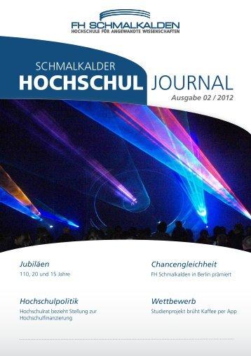 HOCHSCHUL JOURNAL - Fachhochschule Schmalkalden