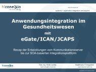 Anwendungsintegration im Gesundheitswesen eGate/ICAN/JCAPS