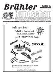 Amtsblatt KW29 2008 - Gemeinde Brühl
