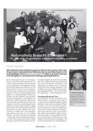 Naturschutz braucht Ehrenamt - Naturschutzbund NÖ