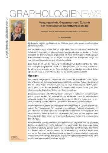 Forensische Schriftvergleichung - Graphologie News