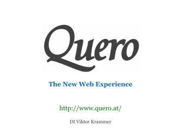 Präsentation für den Softwarepark Hagenberg Award - Quero Toolbar