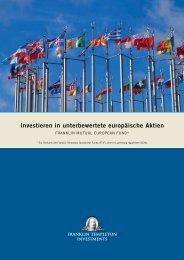 Investieren in unterbewertete europäische Aktien