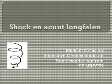 Shock en acuut longfalen - Belsurg