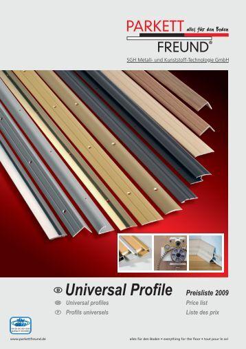 Universal Profile Preisliste 2009 - MAKO COLOR sro